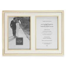 buy crystal picture frames from bed bath & beyond Crystal Wedding Invitation Frame reed & barton® luxe collection 5 inch x 7 inch facets double picture Rhinestone Wedding Invitations