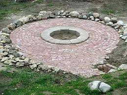 in ground fire pit designs ideas outdoor grill