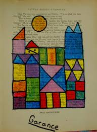 colour theory paul klee and painting on old book pages
