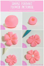 Sweets Occasions Simple Fondant Flower Pictorial No Cutters