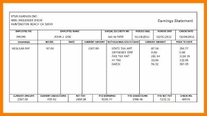 Free Paycheck Stub Creator Free Pay Stub Template For Excel 2007 2016