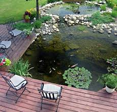 garden pond ideas. Delighful Garden Checking What Fishes Are Doing Right From Your Terrace Could Take Spending  Time There On The For Garden Pond Ideas D