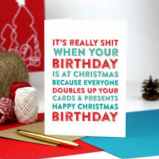 Christmas Birthday Cards Merry Christmas Birthday Greetings Card