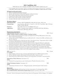 Sample Resume Entry Level Programmer Augustais