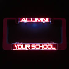 Design My Own License Plate Frame Lumisign License Plate Frame Design Your Own Grey Background