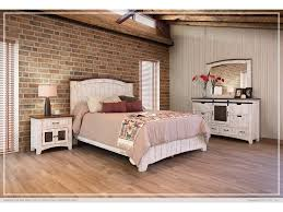 International Furniture Direct 360 Pueblo White Queen Bed Frame Set  IFD360HBD-PLTFRM-Q,