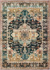 modern loom sedona 7310 9592b blue traditional rug