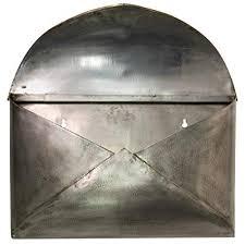 wall mount mailbox envelope. Naiture Envelope Wall-mount Mailbox In Antique Silver Finish Wall Mount Mailbox Envelope V