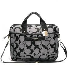 Coach In Monogram Large Grey Business bag DHJ