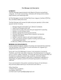 Fresh Lifeguard Job Description Tesstermulo Com