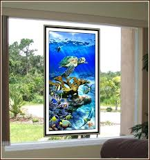 sea glass stained glass sea turtle reef stained glass art