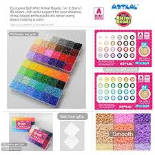 Artkal Soft Mini Beads A 2 6mm 24 000 Fuse Beads 48 Colors Assorted In 2 Boxes Ca48 Its Mini Beads Not Standard Midi Beads