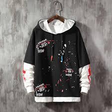 <b>Autumn Large Size</b> patchwork Hoodie Men color block sweatshirt ...