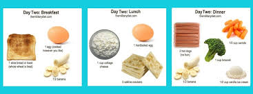 Day Two Military Diet Chart Healthy Figures