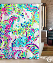 colorful shower curtains. Modren Curtains New Custom Lilly Pulitzer Colorful Shower Curtain For Colorful Curtains F