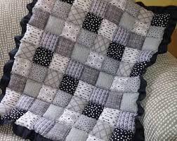 Baby floor quilt | Etsy & Black and gray floor puff quilt Adamdwight.com