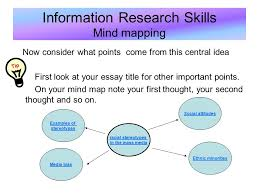 information research skills mind mapping by the end of this module  8 information