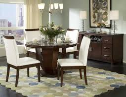 Kitchen Table Setting Round Dining Table Set With Leaf Extension Glass Top Dining Room