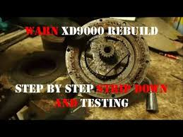 jd s defendercam 4 warn xd9000 winch rebuild part1 testing jd s defendercam 4 warn xd9000 winch rebuild part1 testing deconstruction