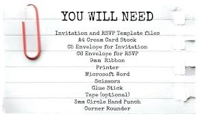 Rsvp Card Template Free Download Here Invitation And Files