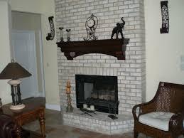 paint brick fireplace surround houses designing ideas a black decoration designs with stone mantel shelves table