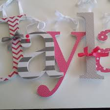 image of modern nursery wall decor letters