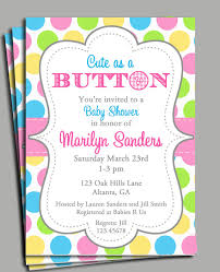 Baby Shower Invitation Backgrounds Free Delectable Cute As A Button Invitation Printable Or Printed With FREE SHIPPING