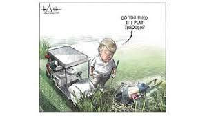 Image result for trump cartoon death at border