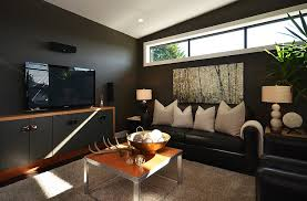 living room decorating ideas with black leather furniture sofa