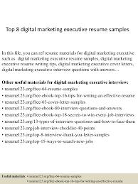 Marketing Executive Resume Samples Free Free Resume Example And