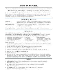 Sample Resume For College Internship Simple Resume Sample For Internship Dewdrops