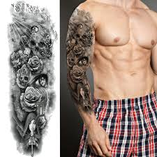 длительный черный молиться монахиня временные татуировки наклейки мужчины