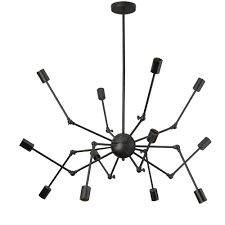 12lt chandelier matte black