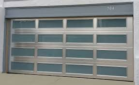 unique garage door modern anodized brushed aluminum