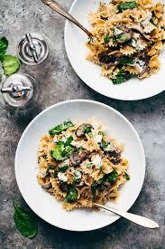 Date Night Mushroom Pasta With Goat Cheese Pinch Of Yum