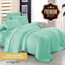 nemuri premium quality limited collection mint green plain bedsheet single size 36 x 78