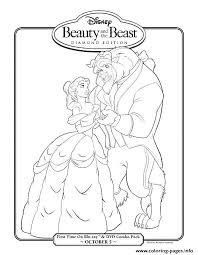 Disney Coloring Pages Beauty And The Beast Beauty And The Beast