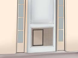 how to install a pet door or dog door