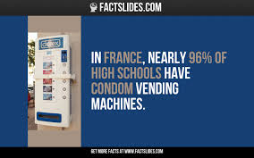 Vending Machine Meaning In Hindi Simple In France Nearly 48% Of High Schools Have Condom Vending Machines