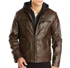 kenneth cole reaction jackets marble faux leather jacket w hood sams club