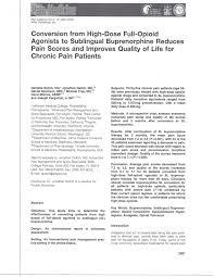 Buprenorphine Conversion Chart Converting Hi Dose Agonists To Buprenorphine