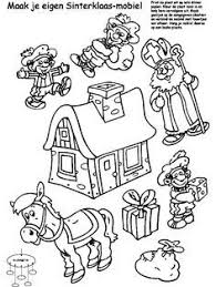 Kleurplaat Mobiel Sinterklaas Zwarte Piet Kleurplatennl
