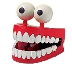 amazon com jabber jaws toy novelty wind up chattering teeth toys