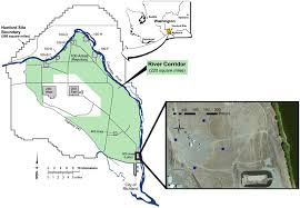 study site map map showing the location of the hanford site within the scientific diagram