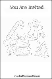christmas cookie party coloring page invitation 72 td free printable christmas cookie party invitation & other printabes on downloadable invitations