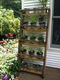 Well the hubby made it || vertical herb garden