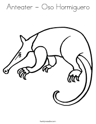 Small Picture Anteater Oso Hormiguero Coloring Page Twisty Noodle