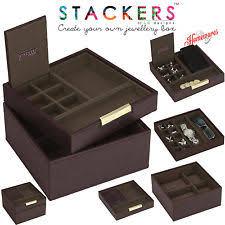 stackers jewellery box stackers jewellery men s square watch cufflinks box dark brown create your own s