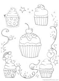 Small Picture Free Cupcake coloring picture to print online Fun Coloring Pages
