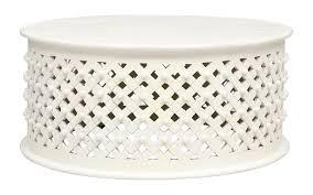 bornova round coffee tablein white
